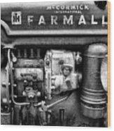 Engine - Farmall Tractor  Wood Print