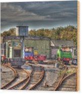 Engine Sheds Quainton Road Buckinghamshire Railway Wood Print