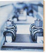 Engineering Metal Parts Wood Print