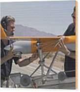 Engineers Mount A Scaneagle Unmanned Wood Print