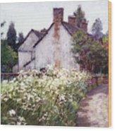 England Cottage Wood Print