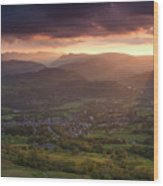 England, Cumbria, Lake District National Park Wood Print