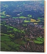 An Aerial Vision Of England Wood Print