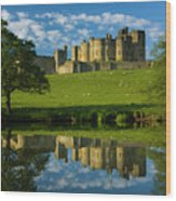 England, Northumberland, Alnwick Castle Wood Print