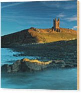 England, Northumberland, Dunstanburgh Castle Wood Print