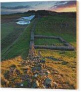England, Northumberland, Hadrians Wall Wood Print