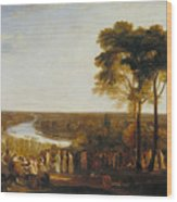 England Richmond Hill On The Prince Regent's Birthday Wood Print
