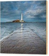 England, Tyne And Wear, Whitley Bay  Wood Print