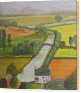 English Canal Wood Print