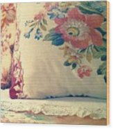 English Chintz With Green Tone Wood Print