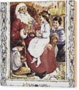English Christmas Card Wood Print by Granger