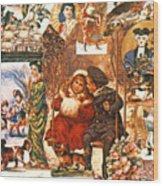 English Christmas Cards Wood Print