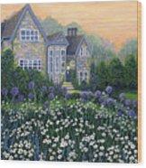 English Cottage Wood Print