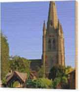 English Country Church Wood Print