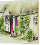 English Country Cottage Series Wood Print