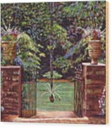 English Garden Elegance Wood Print