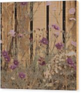 English Garden In Pastels Wood Print