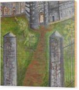 English Manor Wood Print