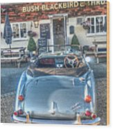 English Pub English Car Wood Print