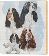 English Springer Spaniel W/ghost Wood Print
