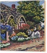 English Tapestry Wood Print