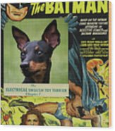 English Toy Terrier Art Canvas Print - Batman Movie Poster Wood Print
