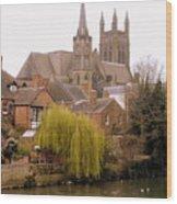 English Village Wood Print
