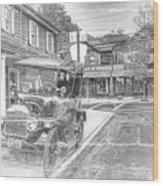 Englishtown New Jersey Classic Car Wood Print