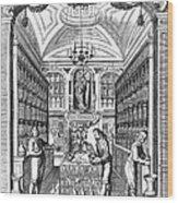 Engraving Of Pharmacy, Geiger, 1651 Wood Print