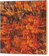 Enigma Orange Wood Print