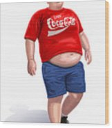 Enjoy Coke Wood Print