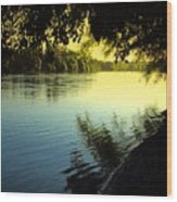 Enjoying The Scenic Beauty Of The Sacramento River Wood Print