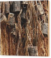 Enkhuizen Fishing Nets Wood Print