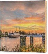 Enkhuizen Sunset Wood Print