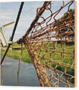 Enkhuizen Windmill And Nets Wood Print