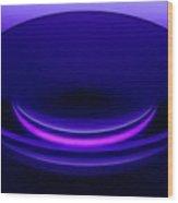 Enlarger Lens Under Blacklight Wood Print
