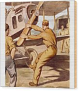 Enlist In The Air Service Wood Print