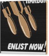 Enlist Now - United States Coast Guard Wood Print