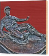 Enos Country Slaughter Statue - Busch Stadium Wood Print
