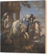 Enrichetta Adelaide Di Savoia E Ferdinando Di Baviera Wood Print