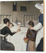 Enrique Paternina Garcia Cid - Mother Visit To The Hospital 1892 Wood Print