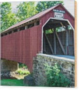 Enslow/turkey Tail Covered Bridge Wood Print