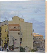 Entering Cefalu In Sicily Wood Print