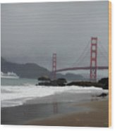 Entering The Golden Gate Wood Print