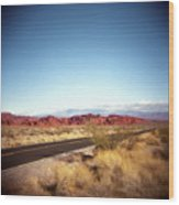 Entering The Valley Of Fire Wood Print