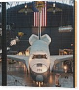 Enterprise Space Shuttle Wood Print by Renee Holder