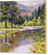 Entiat River Wood Print
