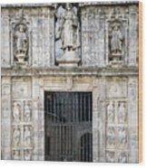Entrance Facade In Landmark Cathedral Of Santiago De Compostela  Wood Print