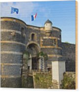Entrance Gate Of Angers Castle Wood Print