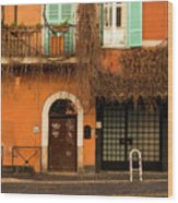 Entrance In Rome Wood Print
